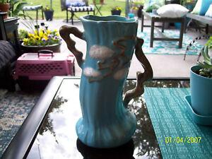 VINTAGE ROSEVILLE BLUE MING TREE VASE 582-8 MINT NICE