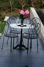 Bella 5 Piece Patio Setting Marble Cast Iron Garden Outdoor Furniture Set Home