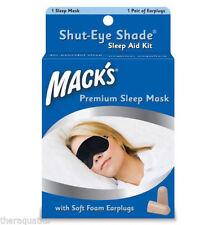 Macks MACK'S #70 Shut-Eye Shade Earplugs Night SLEEP MASK Travel Trips Naps