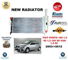 FOR FIAT PUNTO 1.2 60 80 1.2 16V VAN 1.2 60 2003->2012 NEW RADIATOR OE QUALITY