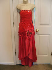 NWT $178 GATSBY Sequins Ballroom Stage Prom haloween Formal Gown sz JR med 11/12