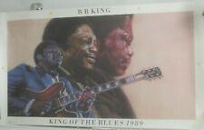 B.B. King - KING OF THE BLUES 1989  - Vintage Promo Poster [1988- Near Mint