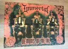 Immortal Demons of Metal music logo poster FLAG black metal band flagge