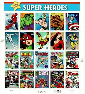 USA - Marvel Super Heroes - Chapter 2- Sheetlet - MNH - Self Adhesive Stamps