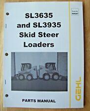 Original Gehl Sl3635 Sl3935 Skid Steer Loaders Parts Manual