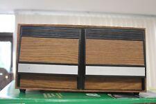 Vintage 2 Drawer CD Storage Cabinet Organizer Faux Wood Grain Holds 40 CDs Brown