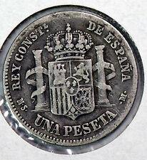 ESPAÑA: 1 PESETA ALFONSO XII. AÑO 1883 -*83 MS-M. RC+. PLATA. IDEAL Y BARATA.