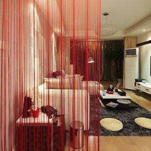 2M String Curtain Door Window Tassel Curtain Calance Room Divider Solid