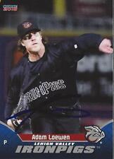 Adam Loewen 2015 Lehigh Valley IronPigs Signed Card