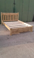 NEW SOLID WOOD RUSTIC CHUNKY 5FT KINGSIZE SLAT BED