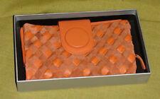 Manzoni Leather Wallet in Burnt Orange