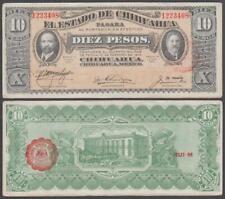 Mexico - Estado De Chihuahua, 10 Pesos, D. 1915, VF+++, P-S535(a)