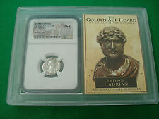 Trajan 98-117 AD Roman Empire NGC Fine Golden Age Hoard Roman Silver Coin