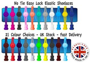 Elastic Laces No Tie Lock System Lock Laces Shoelaces Runners Kids & Adults