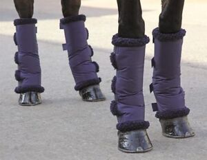 Shires Short, Compact, Fleece Lined Horse Travel Boots - Small, Medium or Large
