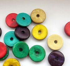 30Pcs Multi-Color Coconut Shell Beads Finding--Jewelry Accessory