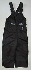 Columbia Snow Pants Tectonite 2 3 Black Reinforced Knees Seat Lined Boys Girls