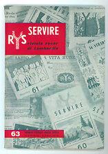 SERVIRE RIVISTA ROVER DI LOMBARDIA 1963 3 NUMERI SCOUT SCOUTISMO