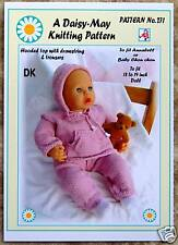 1 DOLLS KNITTING PATTERN *CHOU* ANNABEL-DAISY-MAY*No.271 18 to 20 inch doll