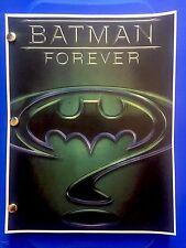 Warner Bros™ BATMAN FOREVER Original Film Script DC COMICS Rare Screenplay