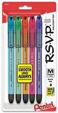Pentel R.S.V.P. Razzle-Dazzle Ballpoint Pen, Medium Line, Black Ink, 5 Pack