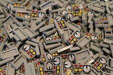 100 x LEGO® Tile / Fliesen 1x2 ( 3069bpx19 ) Messanzeigen in Neu Hellgrau NEU