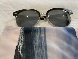 Oliver Peoples Shaelie Black Satin Mirror Sunglasses
