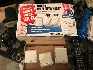 devolo dLAN 500 Wi-Fi Powerline Network Kit 500 Mbps, 5 x PLC Homeplug Adapter,