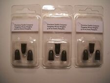 5/16 oz TUNGSTEN WORM WEIGHTS (9 total) in Green Pumpkin color