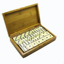 Domino in Holzbox Geschenkbox Dominosteine Dominospiel  Gesellschaftsspiel Holz