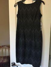 New Nine West Gray Black Sheath Dress Size 2 MSRP $129