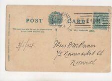 Miss DM Bunn Newmarket Street Norwich 1904 398b