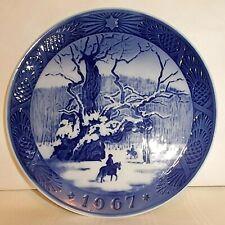 1967 Kai Lange Royal Copenhagen Collector Plate The Royal Oak Horse Blue & White