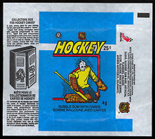 1982-83 OPC O-PEE-CHEE HOCKEY WAX PACK WRAPPER GRANT FUHR RC YEAR COLLECT BOX AD