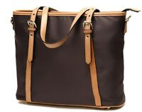 Nylon Handbags Tote Purse for Women Lightweight Water Resistant(coffee)