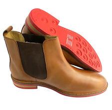 Gucinari Premium Tan Leather Leather Men's Chelsea Ankle Boots UK 7 EU 41 BNIB