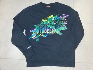 Philadelphia Eagles Mitchell & Ness M&N Throwback Green Sweatshirt Sz S Philly