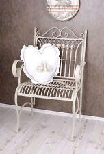 Chaise de jardin shabby Fauteuil métal balcon ancien