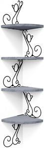 4 Tiers Cat Shape Wall Floating Corner Shelves. Home and Garden Decor.