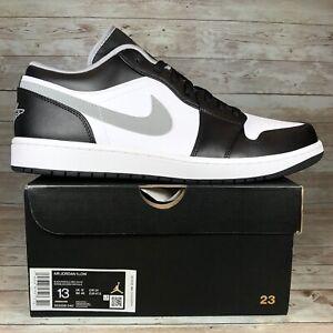 Nike Air Jordan 1 Low Particle Grey Black White Sneakers Men's Size 13