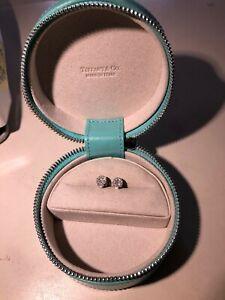 TIFFANY AND CO  Baguette Diamond Halo Stud Earrings