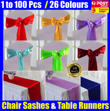 Bulk Satin Table Runners Chair Sash Sashes Chair Cover Wedding Event Decoration