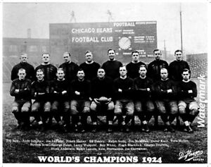 NFL 1924 Chicago Bears World Champion Team Picture 8 X 10 Photo Picture