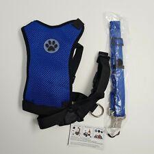 SlowTon Dog Harness Seatbelt Set Pet Vest Harness with Safety Seat Belt LARGE