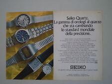 advertising Pubblicità 1975 OROLOGI SEIKO QUARTZ CP 001/CM 013/CQ 001/CN 005