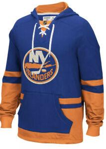NEW  Mens CCM New York Islanders Vintage Style Hoodie Blue/Orange Sz Medium