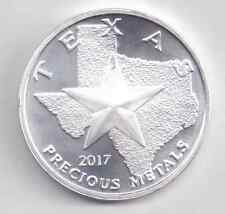 2017 Silver Texas Round. 1-Troy oz. .9999 Silver