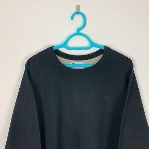 Vintage Champion Black Crew Neck Sweatshirt