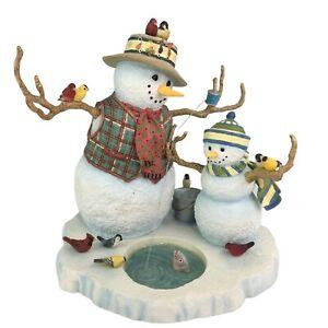 Lenox Fishing with Grandpa Lynn Bywaters Snowman Figurine Sculpture Winter