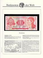 Banknotes of World Honduras 1 Lempira 1984 UNC P-68b Prefix BL